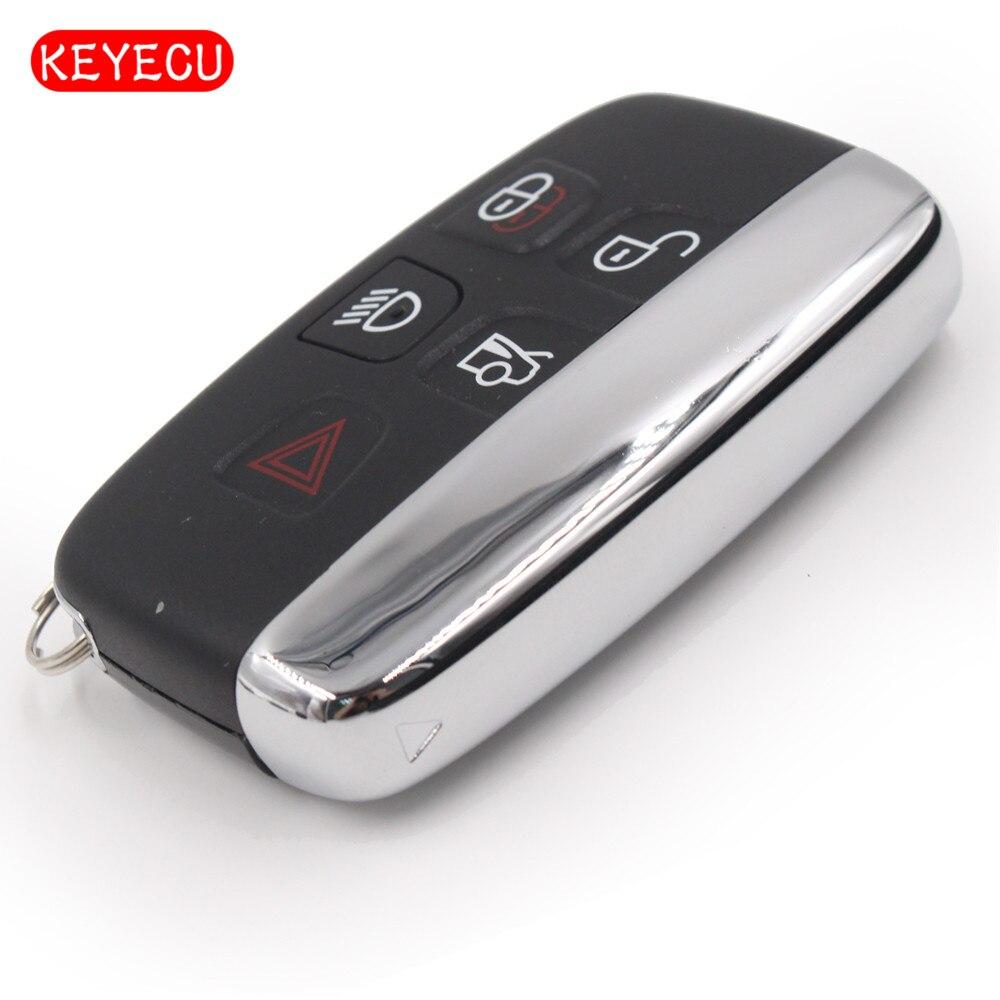 Keyecu New Smart Remote Key Fob 5 Button 433Mhz for Jaguar XF XJ XL 2013 2014