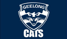 Geelong Cats Flag 150X90CM AFL 3X5FT Banner 100D Polyester grommets custom009, free shipping