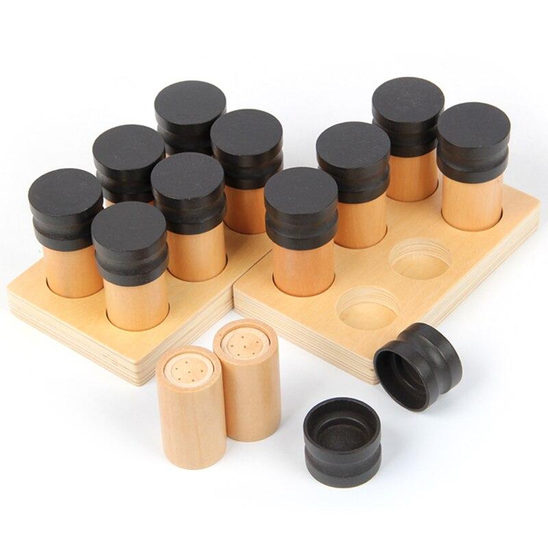 Montessori éducatif en bois développement précoce jouet olfaction tube éducation jouets