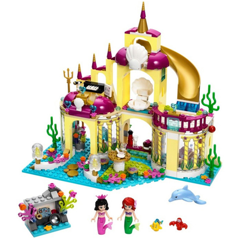 10436 JG306 Friends Ariel's Undersea Palace Building Bricks Blocks Toys Set Girl Game House Gift Toy Compatible With Lepin 10162 friends city park cafe building blocks bricks toys girl game toys for children house gift compatible with lego gift