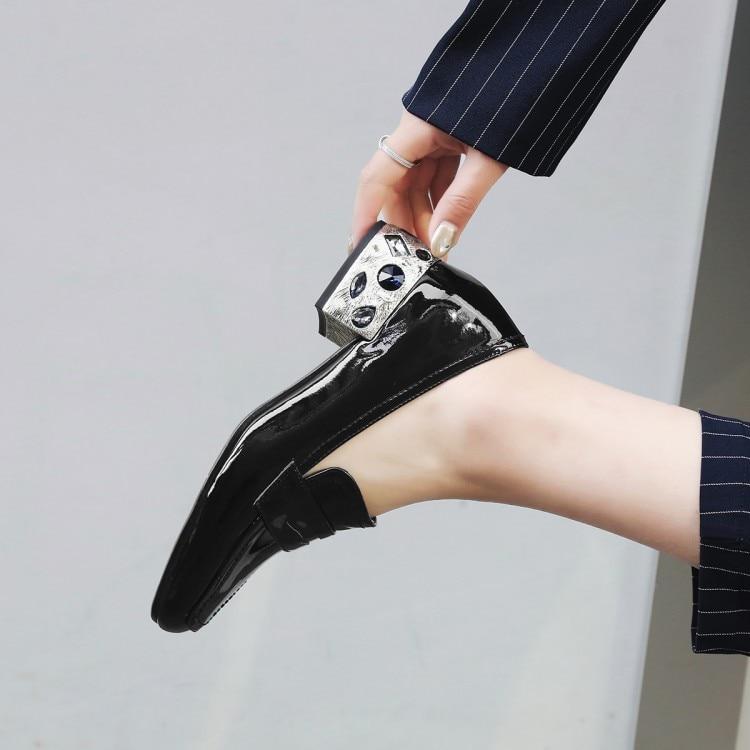 Dedo Zapatos Tacón Pie vino 2018 De Moda blanco {zorssar} Negro Mujer Bombas Vestir Genuino Nuevo Cristal Grueso Cuero Cuadrado Damas Alto Tinto Del Tacones w4qO66nXv