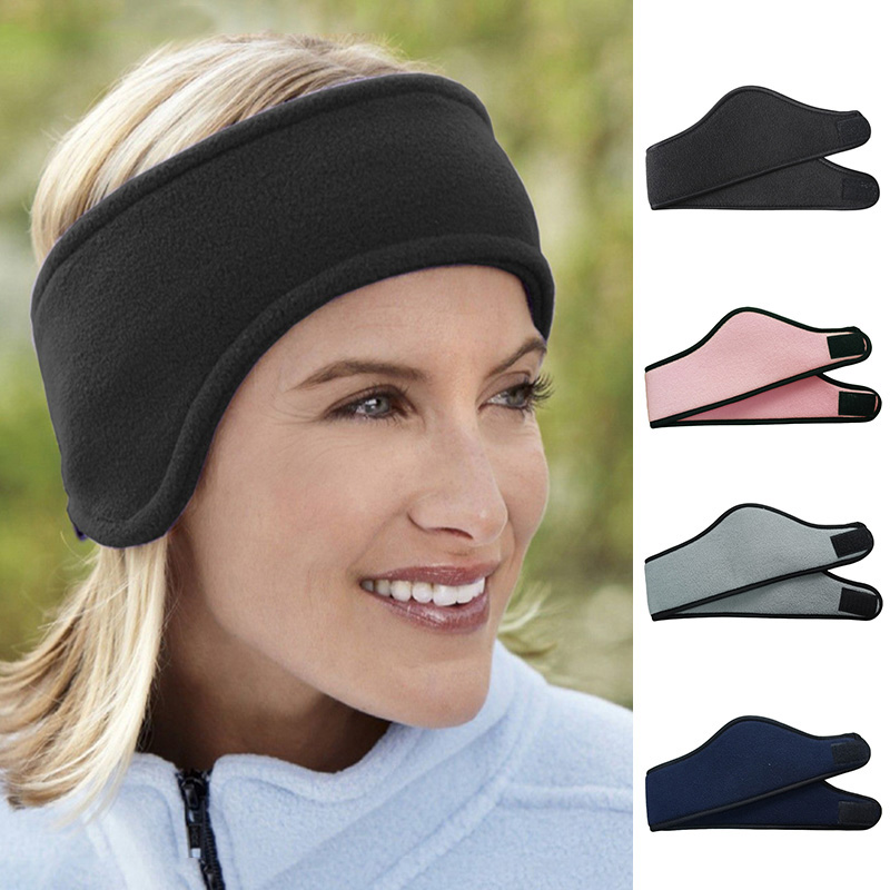 c3abaf0c233 1Pcs unisex headwear women men ear warmer winter head bands polar fleece  ski ear muff stretch spandex headband hair accessories
