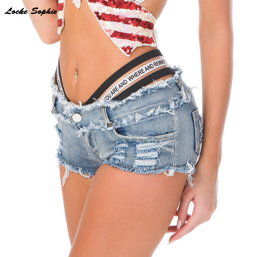 Low Waist Shorts Women's Jeans Denim Shorts 2020 Summer Fashion Broken Hole Ladies Skinny Denim Cotton Super Short Jeans Girls