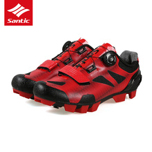 2017 Santic MTB Cycling Shoes 2 Color Men Pro Mountain Bike Shoes TPU Comfortable Self-locking Bicycle Shoes Zapatillas Ciclismo