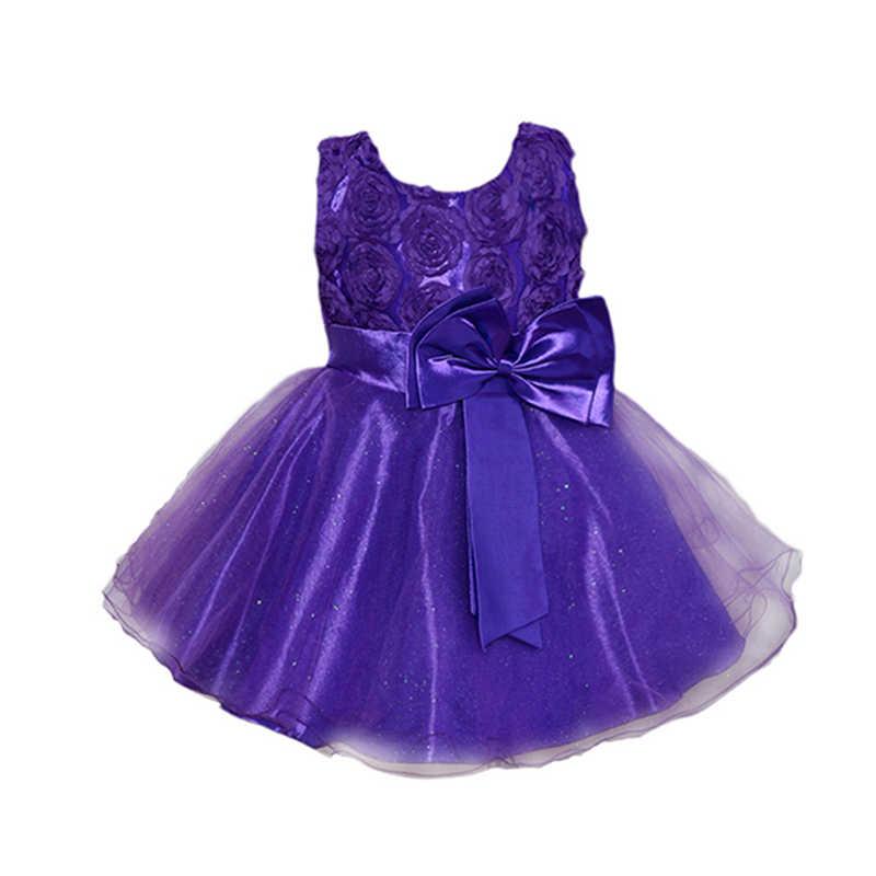 Vestido de niña con flores, tutú de verano, vestidos de fiesta de cumpleaños y boda para niñas