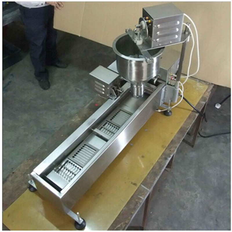Automatic Doughnut Machine Stainless Steel, Mini Auto Donut Machine Production Line Commercial Capacity 500~1000 pcs/h 6 pcs time yeast donut machine stainless steel industrial mini donut machine for commercial page 5 page 3