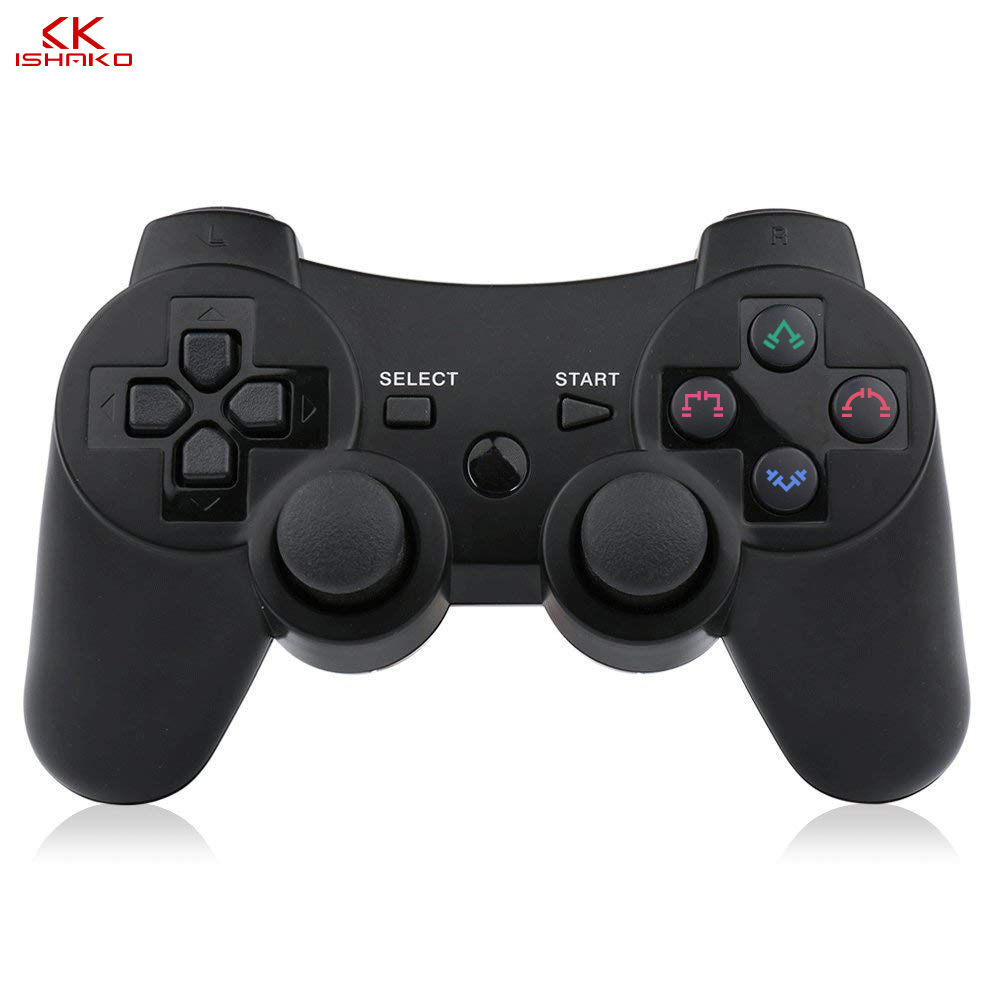 2019 New arrival Wireless Game Controller with charging cable for PS3 gamepad Wireless 6 axis Double Shock-in Gamepads from Consumer Electronics