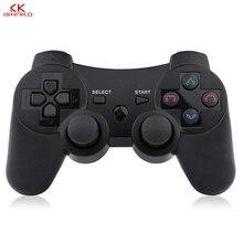 2019 חדש הגעה אלחוטי משחק בקר עם טעינת כבל עבור PS3 gamepad אלחוטי 6 ציר כפול הלם