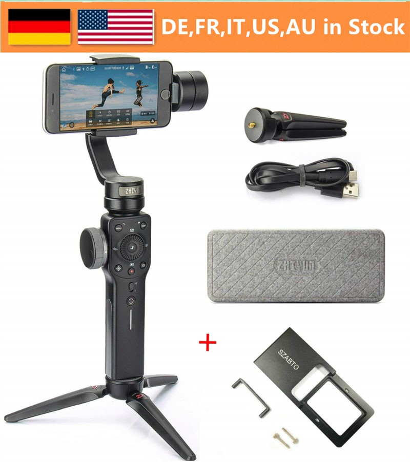 Zhiyun Smooth 4 3-Axis Handheld Gimbal Stabilizer w/Focus Pull & Zoom for iPhone Xs Max Xr X 8 Plus 7 6 SE Android Smartphone floveme for iphone 6 6s iphone 7 8 plus ultra thin cases for iphone x xs max xr clear tpu phone cases for iphone 5s 5 se fundas