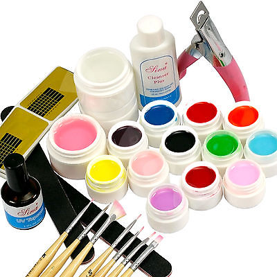 BTT-139 Nail Art UV Gel Tools + 12Pcs Fluorescent Colors UV Gel Full - Arte de uñas - foto 3