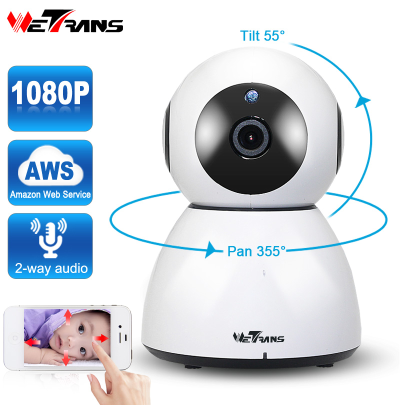 wetrans smart home security wifi camera 1080p hd cloud storage p2p ir night vision network ip. Black Bedroom Furniture Sets. Home Design Ideas