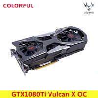 Colorful NVIDIA IGame GeForce GTX1080Ti Vulcan X OC Video Graphics Card 11G GDDR5X 1620MHz 16nm 352bit