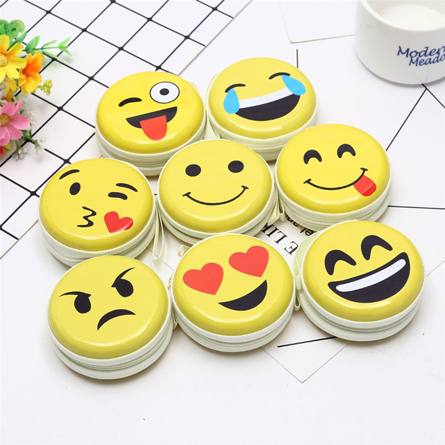 Coin Wallet Bags Pouch-Bag Headset Purse Round Cute New -0308 Elements Expression A1