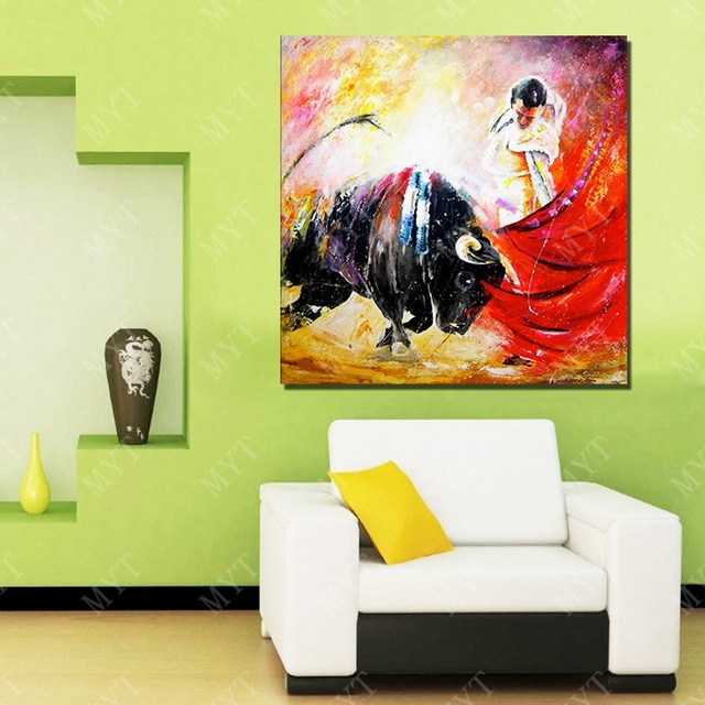 Spanish bullfighting picture custom oil painting canvas art gallery oil painting for home sense decor