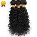 Малайзийский Deep Вьющиеся Человеческих Волос 10a Необработанные Девственные Наращивание Волос Малайзийских Вьющиеся Волосы 4 Связки Deep Вьющиеся Девы Волос
