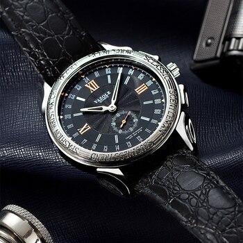2639d8580b53 Relojes yazol para hombre, relojes de lujo de acero inoxidable de marca  superior, relojes deportivos ...