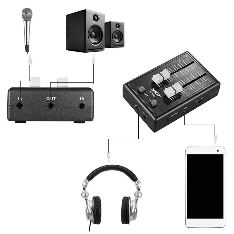Hohe qualität Tragbare 3,5 Mm Audio Sound Mixer Tasche Mixer Für Handy Kopfhörer Kopfhörer Verstärker