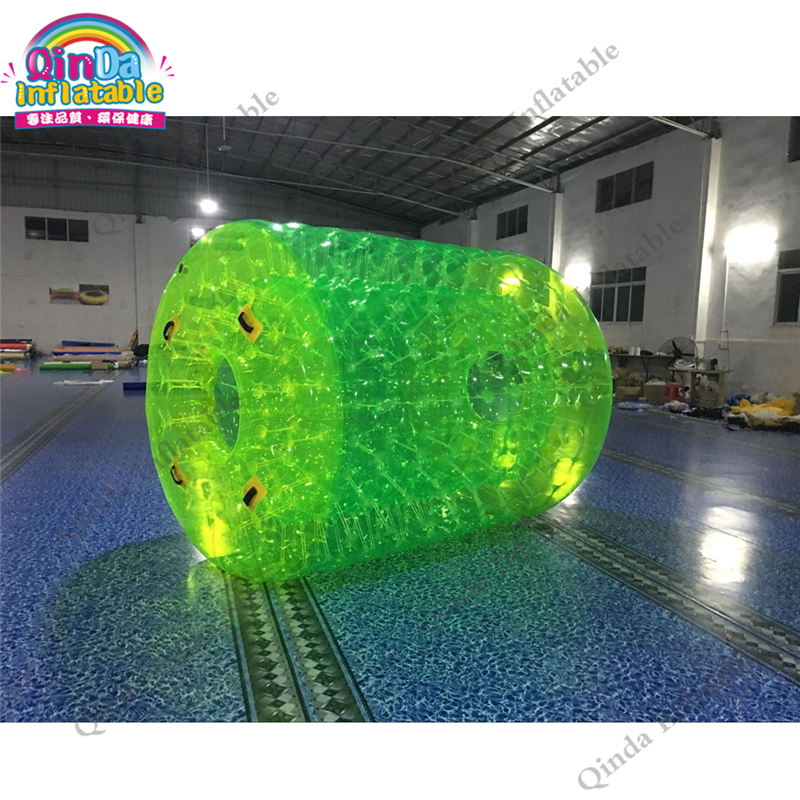 Fluorescent Green Inflatable Walk on Water Ball 1.0mm PVC Water Roller Tube  Inflatable Water Roller Ball funny summer inflatable water games inflatable bounce water slide with stairs and blowers