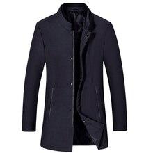 2019 новый мужской деловой повседневной хлопчатобумажной одежды высокого качества сплошной цвет прос