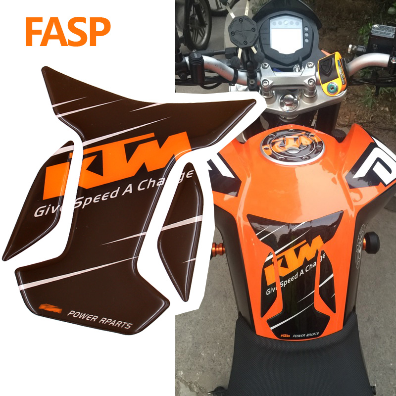 New FASP Motorcycle 3D Resin ADESIVI Emblem Protection Tank Pad Protective Decal & Sticker Black Color For KTM Duke 125 200 390 children summer hot shooting game print t shirt clothing for boy t shirts girls short tee tops clothes kids tshirt costume dx063