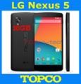 Lg Nexus 5 abierto Original del androide teléfono Quad core GSM 3 G y 4 G WIFI GPS 4.95 '' 8MP D820 / D821 ROM 16 GB RAM 2 GB envío gratis