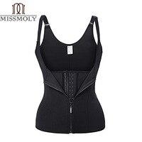 Adjustable Strap Waist Trainer Vest Corset Women METAL Zipper With 3Hooks Body Shaper Waist Cincher Tummy