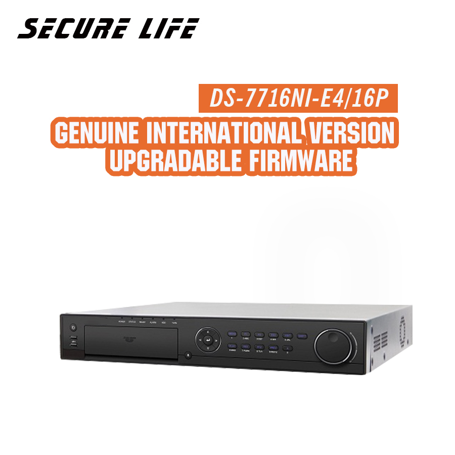 Free shipping DS-7716NI-E4/16P English version 16CH NVR with 4 SATA and 16 POE, HDMI VGA output, alarm Plug & play NVR up to 6MP ca free shipping 1pcs english version digi sm300 keyboard film and 1pcsdigi sm 300 printhead