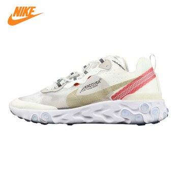 Nike Epic Reagują Element 87 Mężczyzn i kobiet Działający Buty, biały/Niebieski i Biały, Oddychające Antypoślizgowe AQ1813 339 AQ18 & 13 341