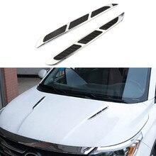 Автомобильный Стайлинг, украшение капота, автомобильная Акула, жабры, Воздушная наклейка на розетку для Buick LaCrosse verano GS Regal Excelle для Acura MDX RDX