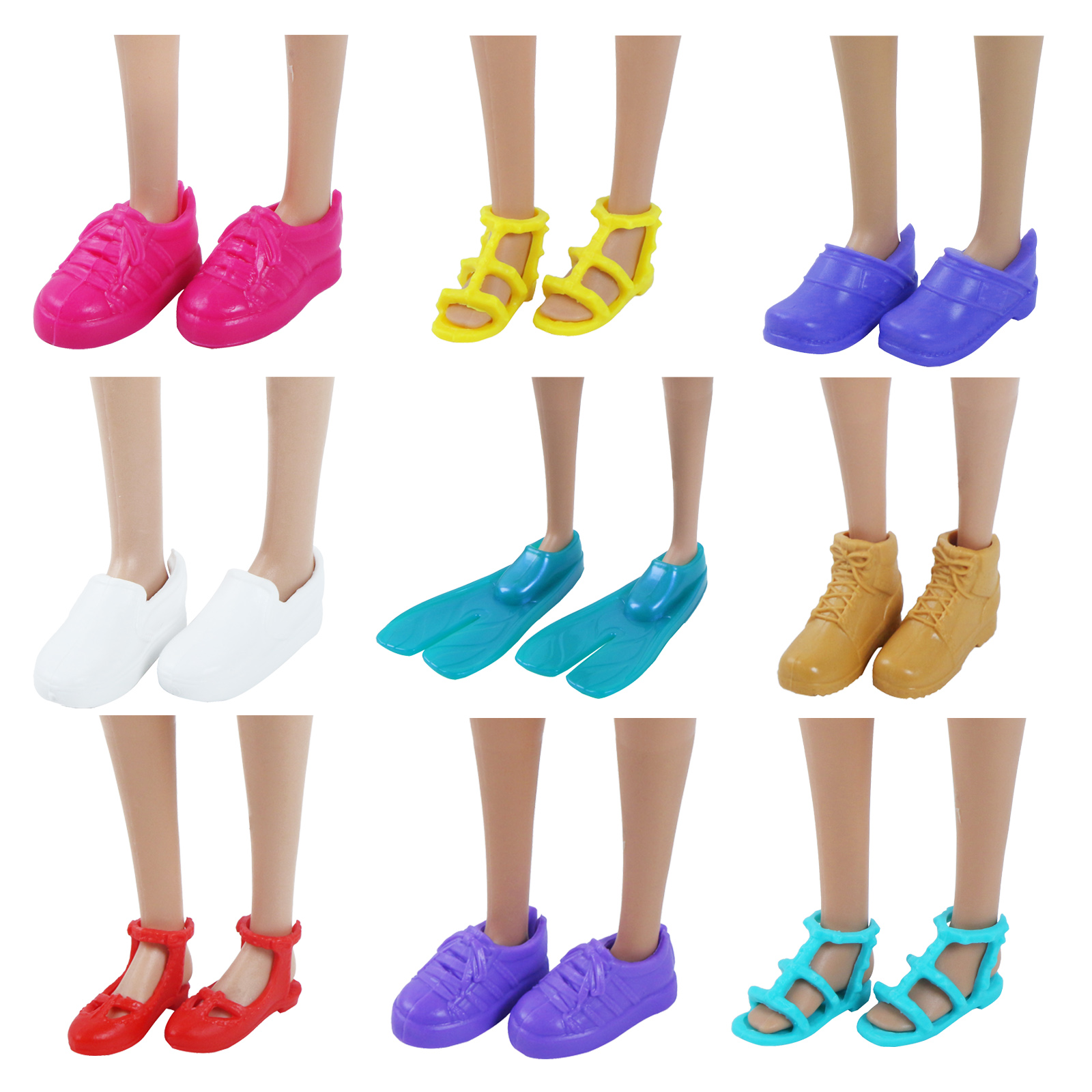 High Quality Fashion Mini Flat Shoes Cute Mixed Style Colorful Sport Sandals Ballet Dance Shoes Accessories For Barbie Doll Toy