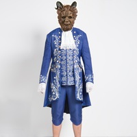 Free Shipping 2017 Movie Beauty And The Beast Cosplay Costume Adult Prince Adam Costume For Men
