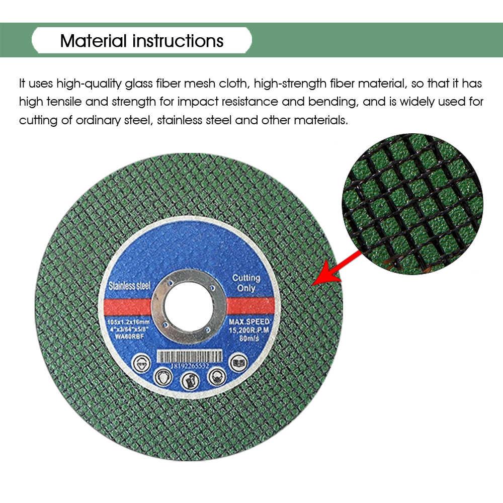 105mm/4 ''ראה להב שרף חיתוך דיסק מנותק גלגל זווית מטחנות דיסק פרוסת סיבי מחוזק עבור מתכת נירוסטה J101L