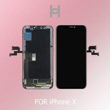 OriginaAAA OEM 1:1 איכות עבור iPhone X LCD תצוגת מסך Digitizer עצרת החלפת OLED/TFT עם זיהוי הפנים