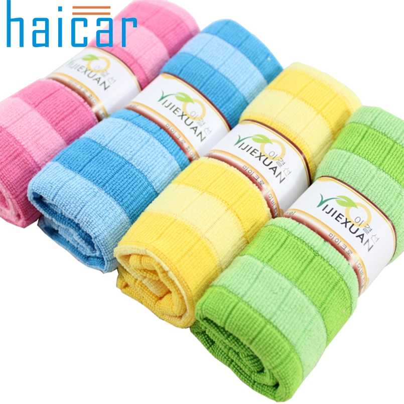 Haicar Top Grand Efficient Anti-grease Color Dish Cloth Bamboo Fiber Washing Towel Magic Kitchen Cleaning Wiping Rags Gifts A904