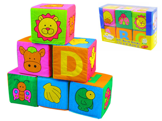 Captivating 6pcs Baby Toys Cloth Building Blocks Soft Play Cubes Toys Alphanumeric  Multifunctional Explorers Toy Juguete 9 Nice Ideas