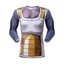 Moto New 2016 popular cartoon dragonball z men and women long sleeve T-shirt compression tight breathable 3D printing T-shirt