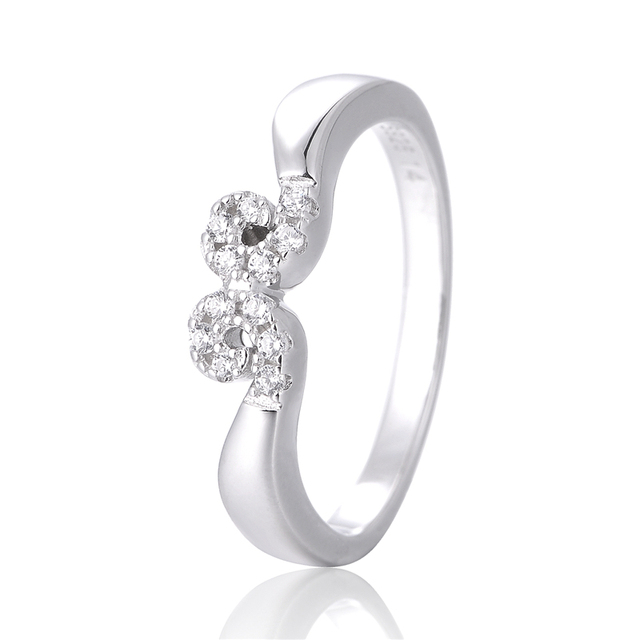 Magic Spell Ring With White CZ Sterling-Silver Authentic Pure Sterling silver ring Wholesale Ring European Style Woman DIY Rings