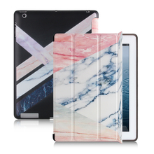 Marble pattern New Case for Apple iPad 4 3 2. YCJOYZW - PU leather cover+TPU soft Case-Smart sleep wake up case for ipad 2 3 4 lychee pattern protective swivel rotating pu leather case for ipad 2 the new ipad red