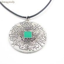 Labirinto corredor labirinto pingente colar de alta qualidade clássico redondo jóias corda corrente colar atacado varejo