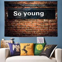 цены 3D Brick Wall Art Decoration Tapestry Boho Wall Hanging Psychedelic Hippie Wall Tapestry Mandala Wall Fabric Cloth for Dorm Room