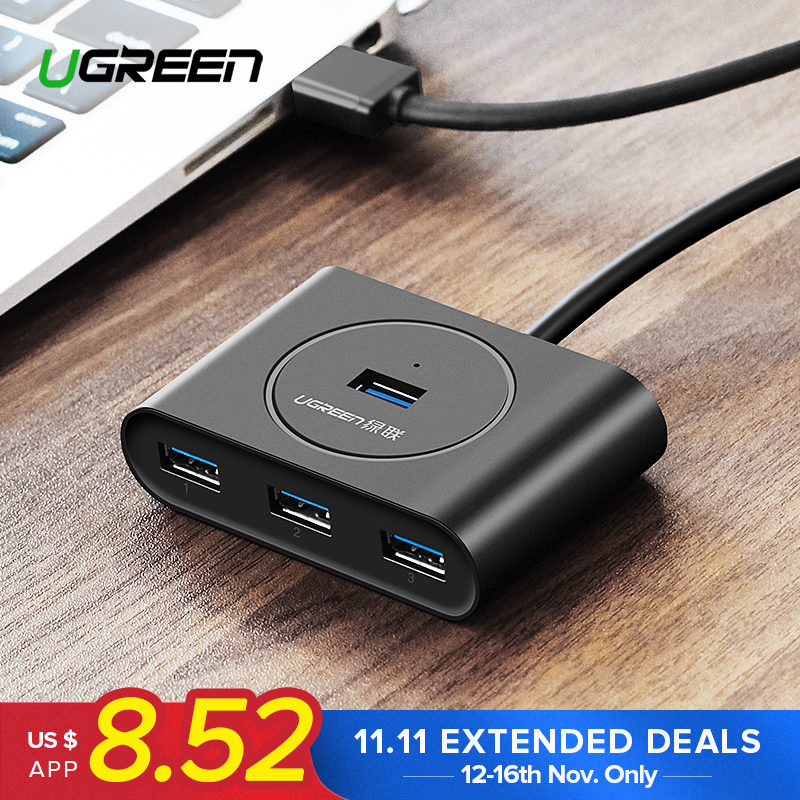 Ugreen USB HUB 3.0 External 4 Port USB Splitter with Micro USB Power Port for iMac Computer Laptop Accessories HUB USB 3.0 постельное белье tango постельное белье lolipop 1 5 спал