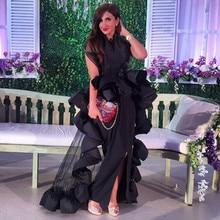 Vestidos, винтажные Длинные вечерние платья из тафты и тюля, модный уникальный дизайн, платье для свадебной вечеринки на заказ
