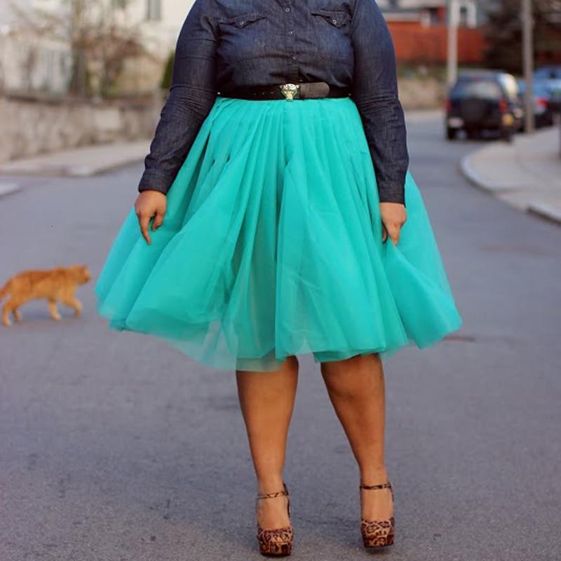 Лято Joker Tutu Пола жени Голям размер нагънат женски Jupe Femme Faldas Rokken по поръчка 7 слоеве тюл поли 5XL