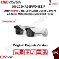 Hikvision 2MP ANPR Ultra Low Light Smart IP Camera DS 2CD4A26FWD IZS P LPR Bullet CCTV