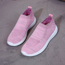 2019 New Stretch Fabric Women Shoes Flats Loafers Sneakers Women Breathable Casual Shoes Woman Low-cut Slip-On Large Size 35-43 piergitar fabric printed traditional hand drawn design women loafers women casual and party shoes fashion slip on woman flats