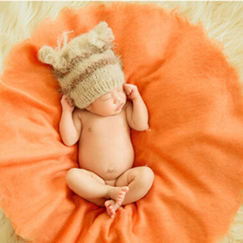 HOT צמר שטיחים כרית שמיכה תינוקת צילום - מצעים