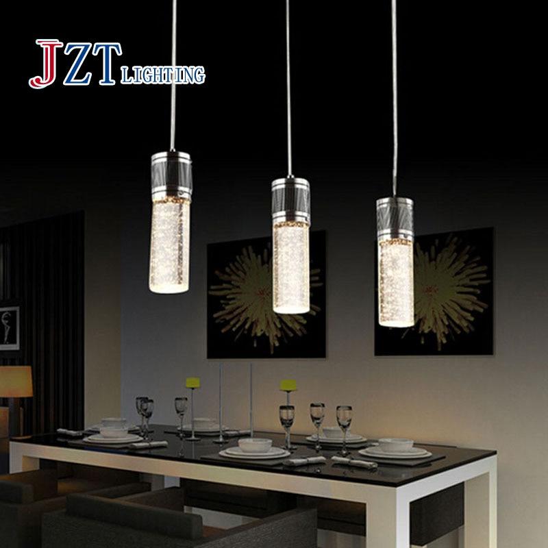 Z Best Price 3pc/set Lighting Crystal Lamp Modern Brief LED Pendant Lamp Creative Crystal Pendant Lamp Bar Light Free Shipping