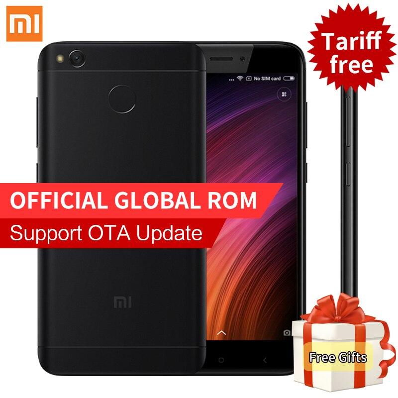 Original Xiaomi Redmi 4X Pro Smartphone 3GB 32GB Global ROM Snapdragon 435 Octa Core 4100mAh 4G FDD LTE 5.0 Inch Fingerprint ID