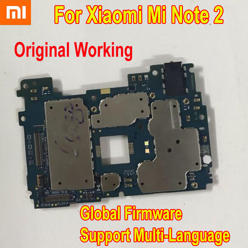 Global Firmware Original Unlock Mainboard For Xiaomi MI Note2 Note 2 Motherboard Circuits Card Fee Main
