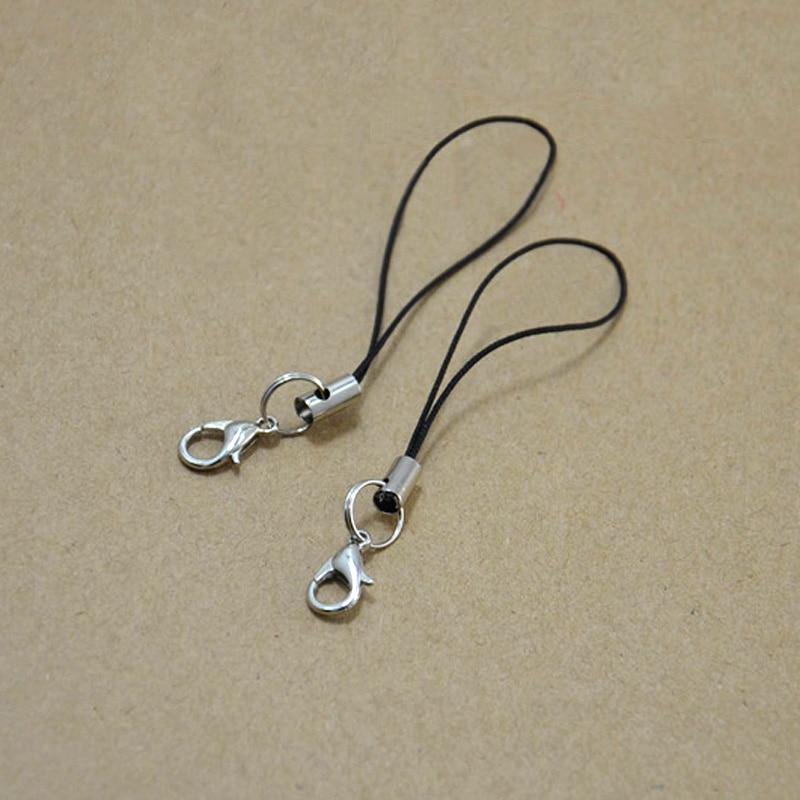 2PCS DIY Lobster Clasp Keychain Women Bag Phone Wallets Keyring Ornaments Key Chain Ring Trinket Jewelry Making Accessories